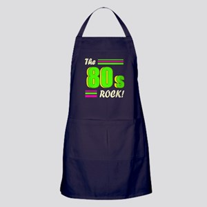 'The 80s Rock!' Apron (dark)