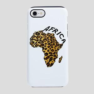 Leopard Africa Map iPhone 7 Tough Case