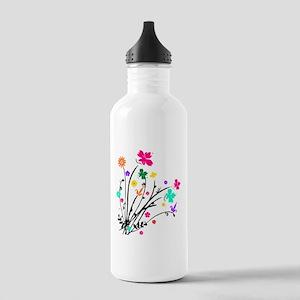 'Flower Spray' Stainless Water Bottle 1.0L