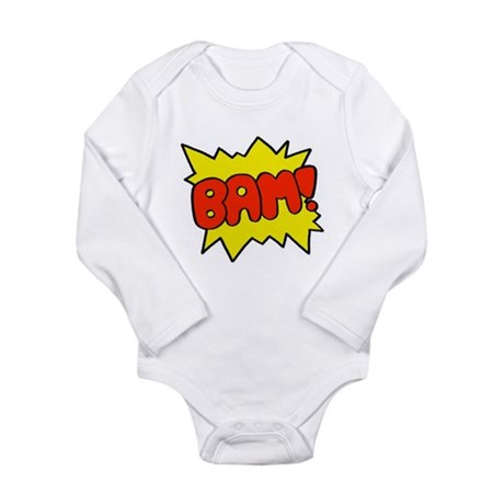 Comic 'Bam!' Long Sleeve Infant Bodysuit