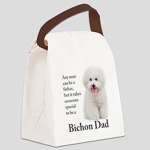 Bichon Dad Canvas Lunch Bag