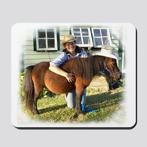 4-H Pigtail Cowgirl (fuzzy edges) Mousepad