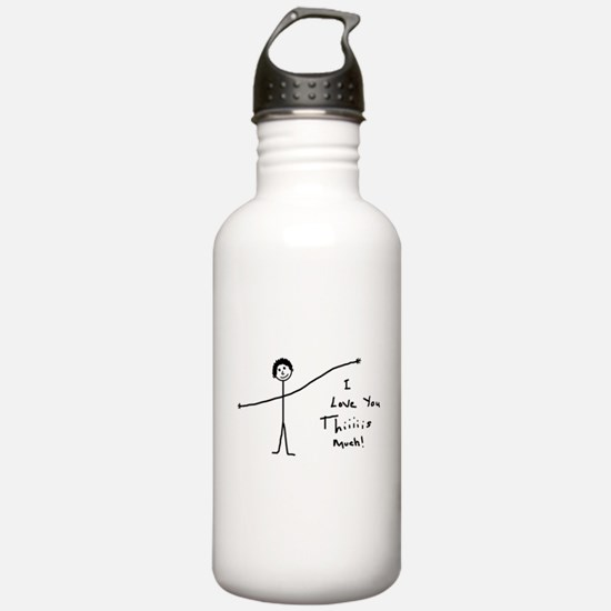 'I Love You' Water Bottle