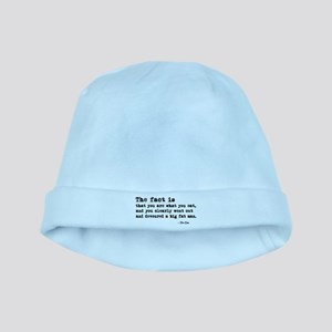 'You Are What You Eat' baby hat