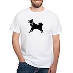 Alaskan Malamute Breast Cance White T-Shirt