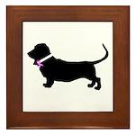 Basset Hound Breast Cancer Su Framed Tile