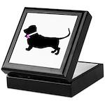 Basset Hound Breast Cancer Su Keepsake Box