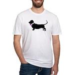 Basset Hound Breast Cancer Su Fitted T-Shirt