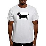 Basset Hound Breast Cancer Su Light T-Shirt