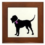 Blood Hound Breast Cancer Sup Framed Tile