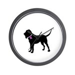 Blood Hound Breast Cancer Sup Wall Clock
