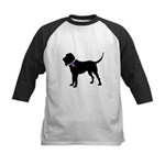 Blood Hound Breast Cancer Sup Kids Baseball Jersey