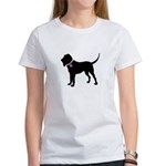 Blood Hound Breast Cancer Sup Women's T-Shirt