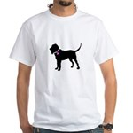 Blood Hound Breast Cancer Sup White T-Shirt