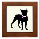 Boston Terrier Breast Cancer Support Framed Tile