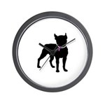 Boston Terrier Breast Cancer Support Wall Clock