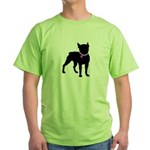 Boston Terrier Breast Cancer Support Green T-Shirt