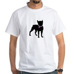 Boston Terrier Breast Cancer Support White T-Shirt
