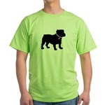 Bulldog Breast Cancer Support Green T-Shirt