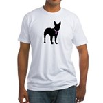 Bullterrier Breast Cancer Sup Fitted T-Shirt