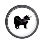 Chow Chow Breast Cancer Suppo Wall Clock