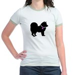 Chow Chow Breast Cancer Suppo Jr. Ringer T-Shirt