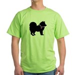 Chow Chow Breast Cancer Suppo Green T-Shirt