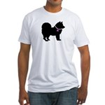 Chow Chow Breast Cancer Suppo Fitted T-Shirt