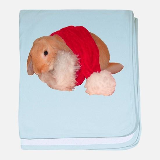 """Xmas Bunny 1"" baby blanket"