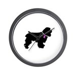 Cocker Spaniel Breast Cancer Wall Clock