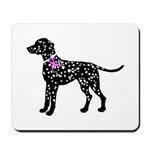 Dalmatian Breast Cancer Support Mousepad
