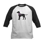 Dalmatian Breast Cancer Support Kids Baseball Jers