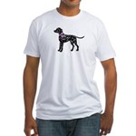 Dalmatian Breast Cancer Support Fitted T-Shirt