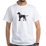 Dalmatian Breast Cancer Support White T-Shirt
