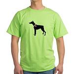 Doberman Pinscher Breast Canc Green T-Shirt
