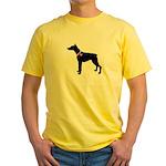 Doberman Pinscher Breast Canc Yellow T-Shirt
