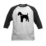 Fox Terrier Breast Cancer Sup Kids Baseball Jersey