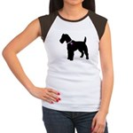 Fox Terrier Breast Cancer Sup Women's Cap Sleeve T