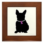 French Bulldog Breast Cancer Framed Tile