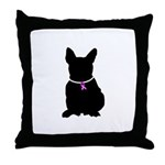 French Bulldog Breast Cancer Throw Pillow