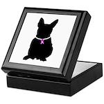 French Bulldog Breast Cancer Keepsake Box