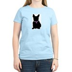French Bulldog Breast Cancer Women's Light T-Shirt