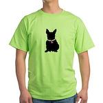 French Bulldog Breast Cancer Green T-Shirt