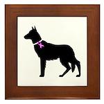 German Shepherd Breast Cancer Framed Tile