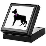 German Shepherd Breast Cancer Keepsake Box