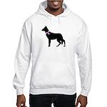German Shepherd Breast Cancer Hooded Sweatshirt