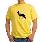 German Shepherd Breast Cancer Yellow T-Shirt