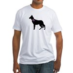German Shepherd Breast Cancer Fitted T-Shirt