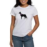 German Shepherd Breast Cancer Women's T-Shirt