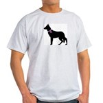 German Shepherd Breast Cancer Light T-Shirt